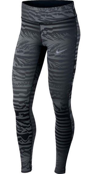 Nike Power Essential Lange hardloopbroek Dames grijs/zwart